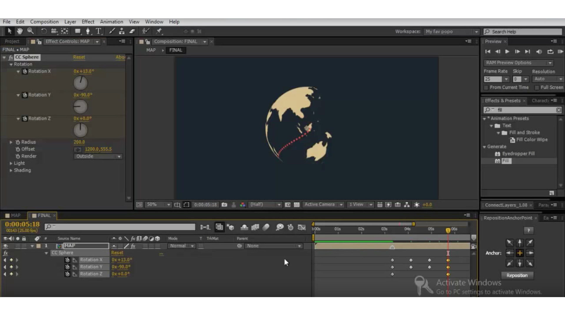 cc sphere after effects