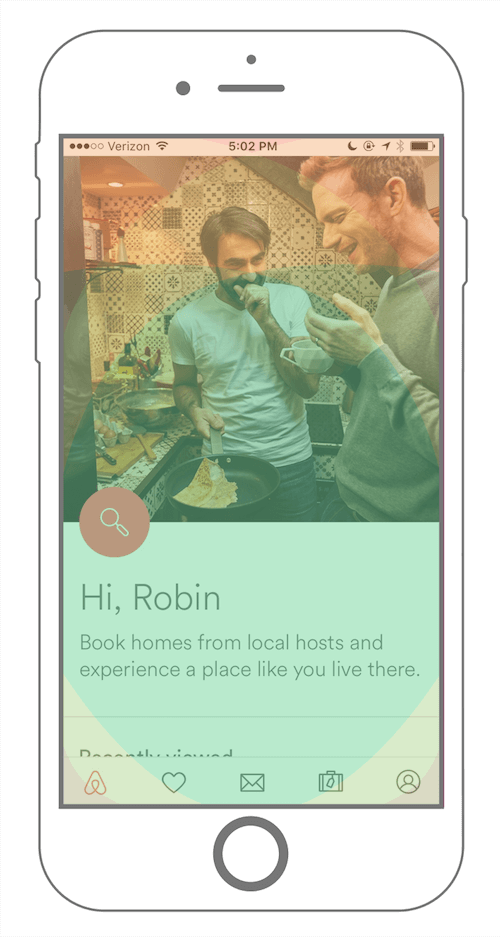 airbnb mobile application